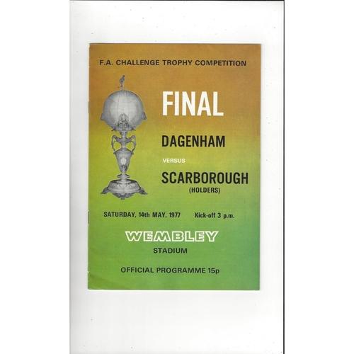 1977 Dagenham v Scarborough FA Trophy Final Football Programme