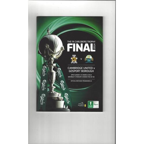 FA Trophy Final Football Programmes