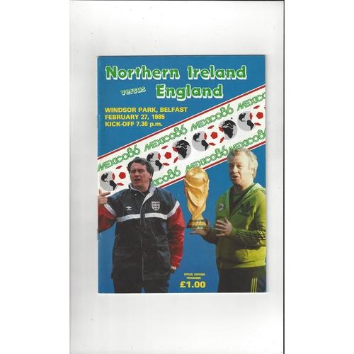 1985 Northern Ireland v England Football Programme