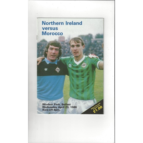 1986 Northern Ireland v Morocco Football Programme
