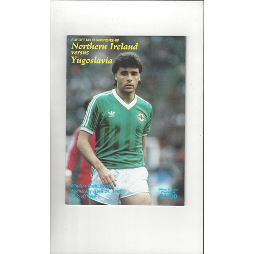 1987 Northern Ireland v Yugoslavia Football Programme