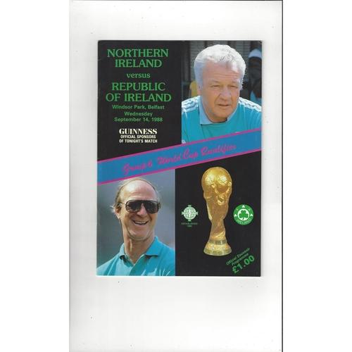 1988 Northern Ireland v Eire Football Programme