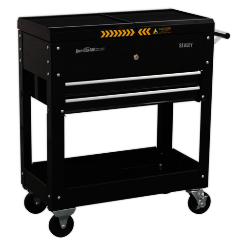 Mobile Tool & Parts Trolley - Black - Sealey - AP705MB