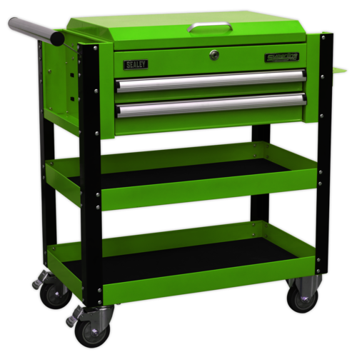 Heavy-Duty Mobile Tool & Parts Trolley 2 Drawers & Lockable Top - Sealey - AP760MHV