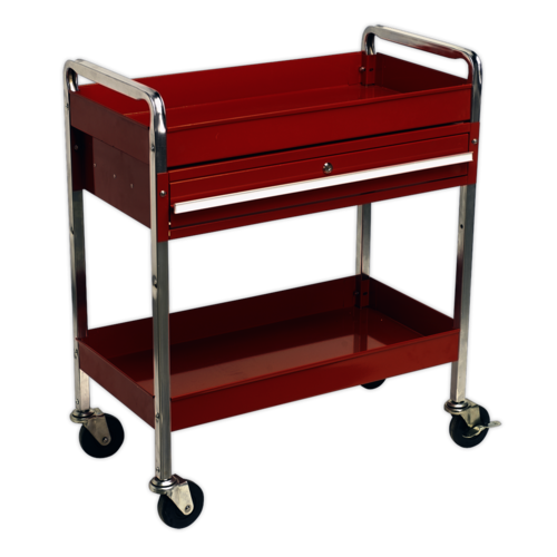 Trolley 2-Level Heavy-Duty with Lockable Drawer - Sealey - CX101D