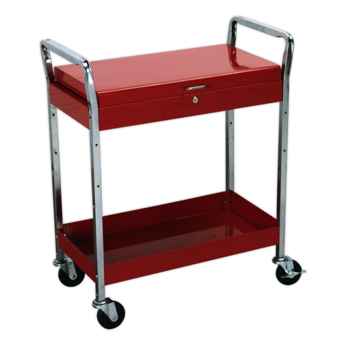 Trolley 2-Level Heavy-Duty with Lockable Top - Sealey - CX104