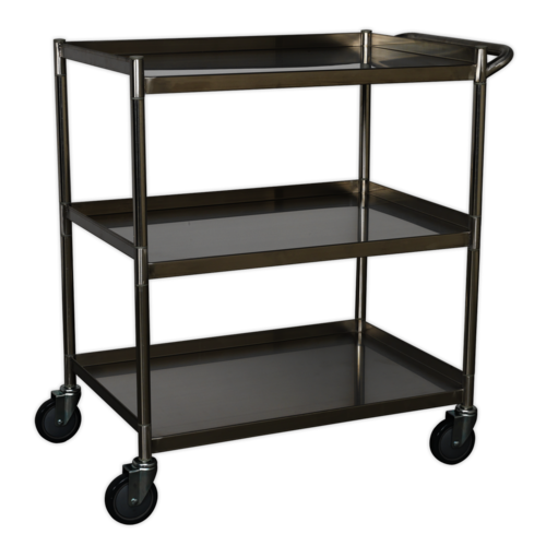 Workshop Trolley 3-Level Stainless Steel - Sealey - CX410SS