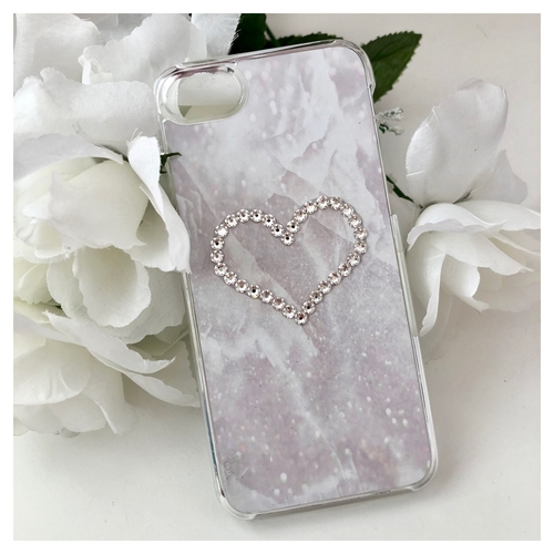 Swarovski Crystal Marble Heart Case