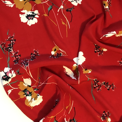 Scarlett Meadow Viscose Crepe