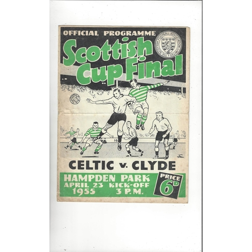 1955 Celtic v Clyde Scottish Cup Final Football Programme