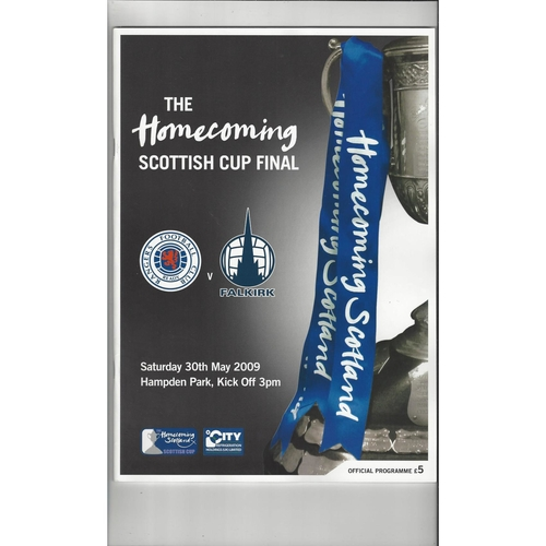 2009 Rangers v Falkirk Scottish Cup Final Football Programme