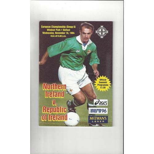 1994 Northern Ireland v Republic of Ireland Football Programme 1994