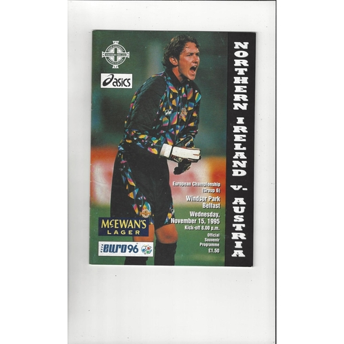 1995 Northern Ireland v Austria Football Programme