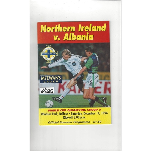 1996 Northern Ireland v Albania Football Programme