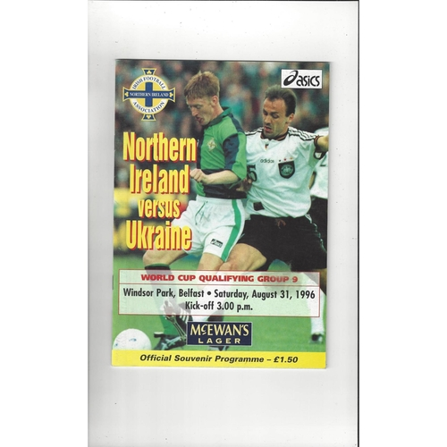1996 Northern Ireland v Ukraine Football Programme