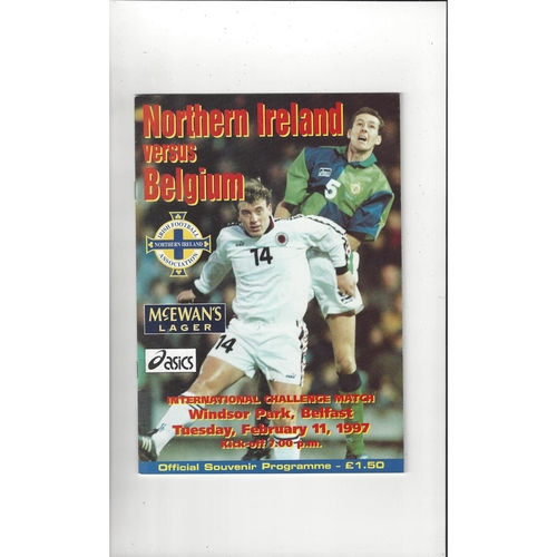 1997 Northern Ireland v Belgium Football Programme