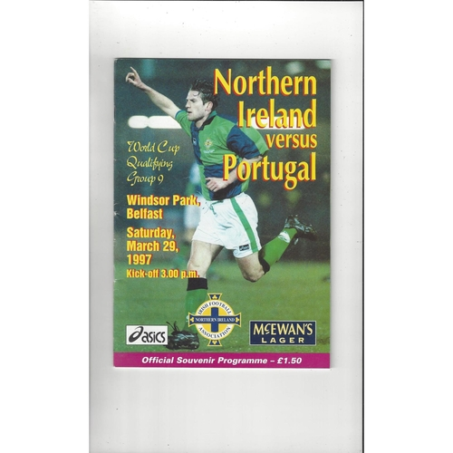 1997 Northern Ireland v Portugal Football Programme