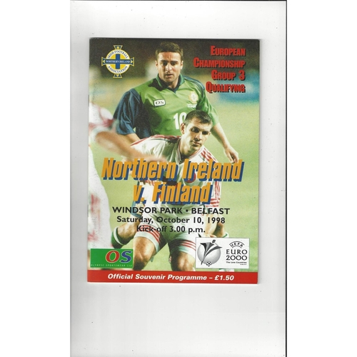1998 Northern Ireland v Finland Football Programme