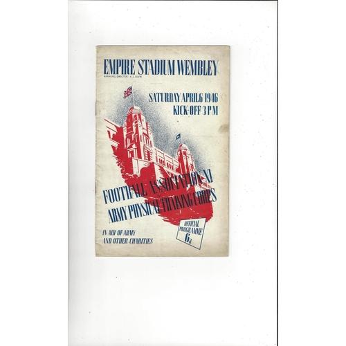 Football Association v Army Physical Training Corps Football Programme 1949