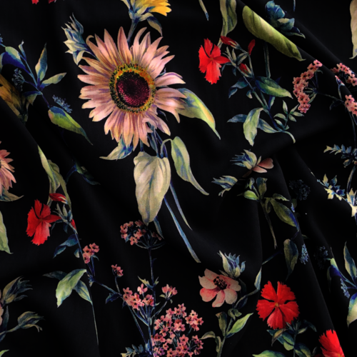 Antique Floral Viscose