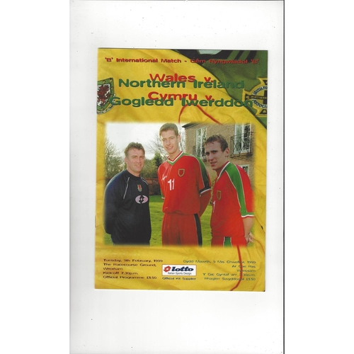 1999 Wales v Northern Ireland 'B' International Football Programme