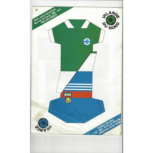 1986 France v Northern Ireland International Football Programme