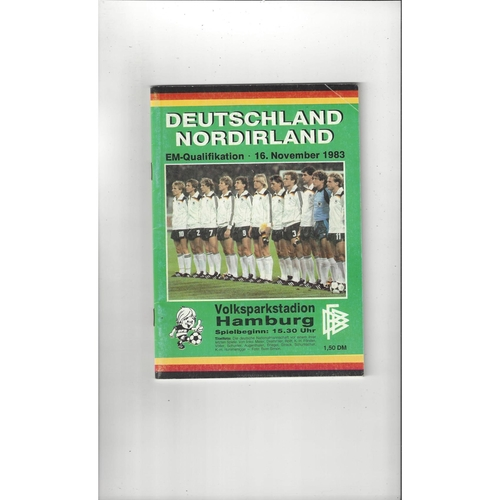 1983 Germany v Northern Ireland International Football Programme