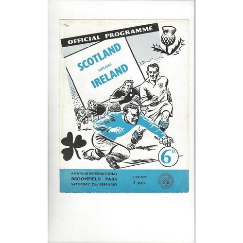 Amateur International Football Programmes