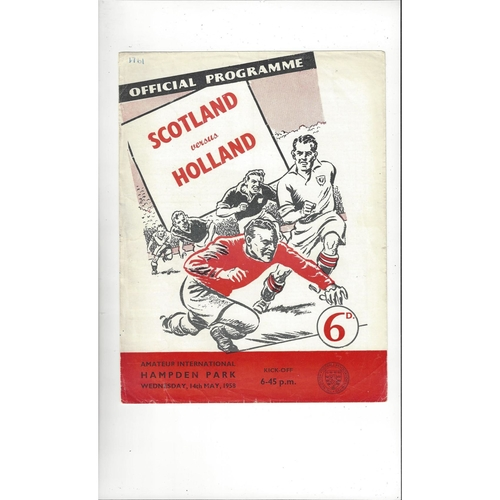 1958 Scotland v Holland Amateur International Football Programme