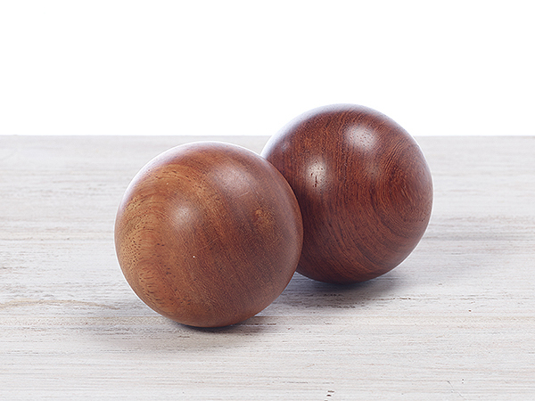 Natural Healing Rosewood Handball - Massage hand exercise ball
