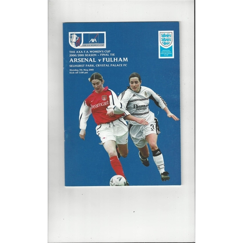 2001 Arsenal v Fulham Women's FA Cup FInal Football Programme @ Crystal Palace