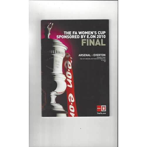 2010 Arsenal v Everton Women's FA Cup FInal Football Programme @ Forest