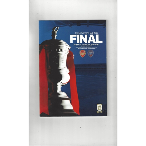 Women's Cup Final Football Programmes