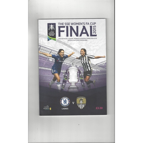 2015 Chelsea v Notts County Women's FA Cup FInal Football Programme