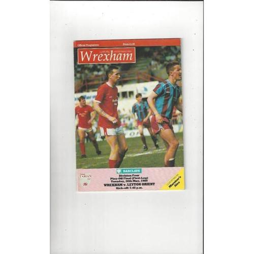 1989 Wrexham v Leyton Orient Play Off Football Programme