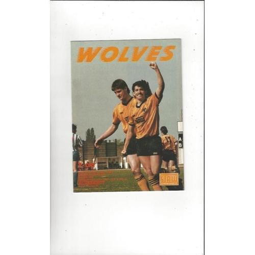 1987 Wolves v Aldershot Play Off Football Programme