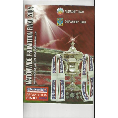 2004 Aldershot v Shrewsbury Town Play Off Final Football Programme