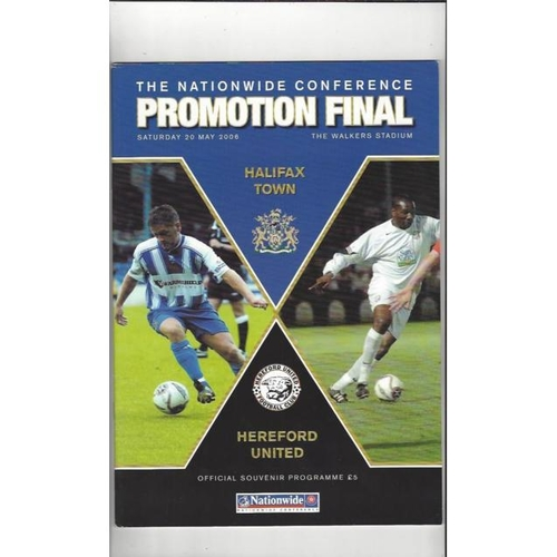 2006 Halifax Town v Hereford United Play Off Final Football Programme