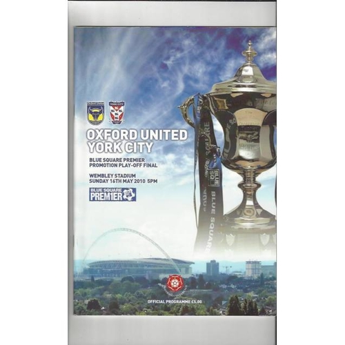 2010 Oxford United v York City Play Off Final Football Programme