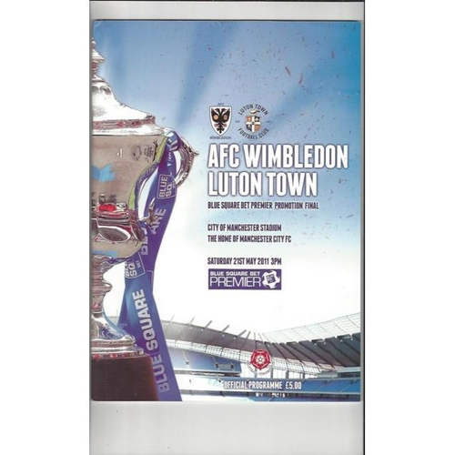 2011 Wimbledon v Luton Town Play Off Final Football Programme