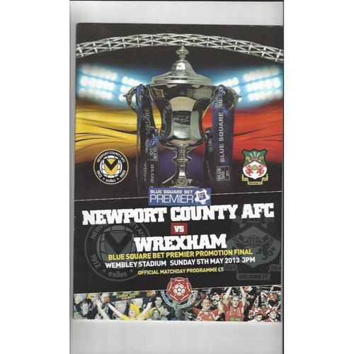 2013 Newport County v Wrexham Play Off Final Football Programme