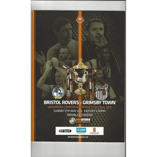2015 Bristol Rovers v Grimsby Town Play Off Final Football Programme