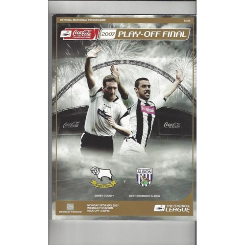2007 Derby County v West Bromwich Albion Play Off Final Championship Football Programme