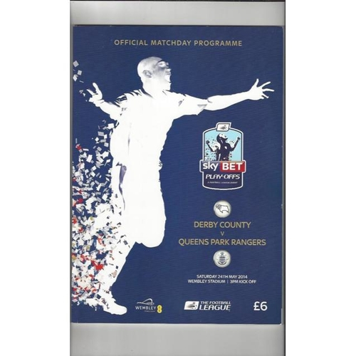 2014 Derby County v Queens Park Rangers Play Off Final Championship Football Programme