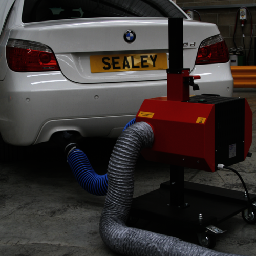 Exhaust Fume Extractor with 6mtr Ducting - Sealey - EFS/93