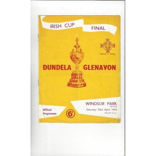 1955 Dundela v Glenavon Irish Cup Final Football Programme