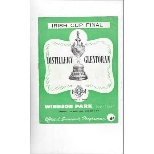 1956 Distillery v Glentoran Irish Cup Final Football Programme