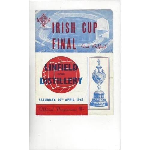 1963 Linfield v Distillery Irish Cup Final Football Programme