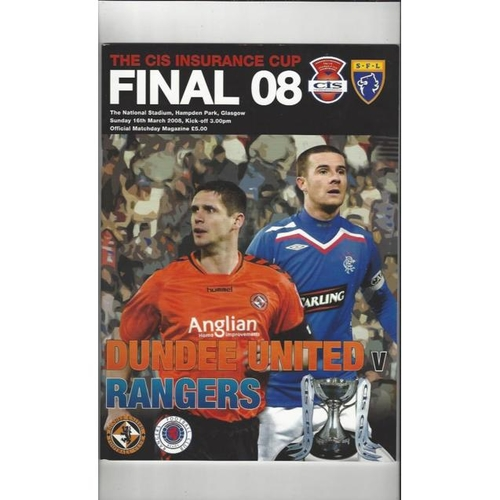 Scottish League Cup Final Football Programmes