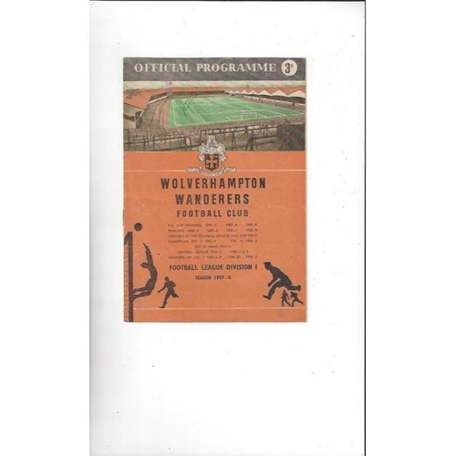 1958 Wolves v Chelsea FA Youth Cup Final Football Programme